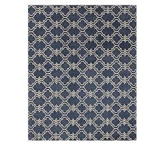 scroll tile rug indigo blue