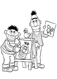 Ernie Coloring Pages And Coloring Pages To Print Free Printable ...