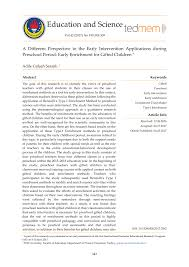 pdf a diffe perspective to the early intervention applications during pre period early enrichment for gifted children