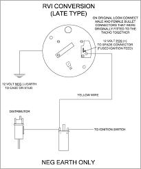 wiring a tacho negative earth rvi late type conversion diagram