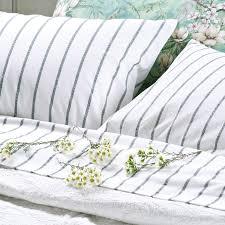 ticking stripe duvet cover set classic linen boutique