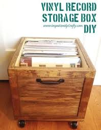 diy lp vinyl record storage box with wheels do it yourself home projects from ana white