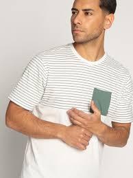 <b>Mazine</b> T-Shirt <b>Felton</b> Stripe белый/зеленый купить в онлайн ...