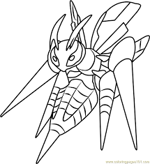 Small Picture Mega Beedrill Pokemon Coloring Page Free Pokmon Coloring Pages