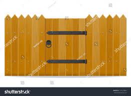 Decorating wicket door images : Wooden Fence Wicket Door Vector Illustration Stock Vector ...