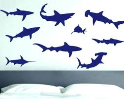 Amazing Shark Bedroom Decor Shark Bedroom Decor Shark Wall Decor Aquatic Room Decor  Shark Die Cut Vinyl . Shark Bedroom Decor ...