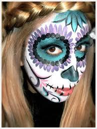 diy bold sugar skull makeup via s