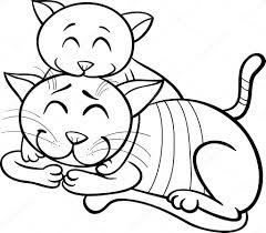 Kitten Kleurplaat Kittens Kleurplaat Katten Printen Auto