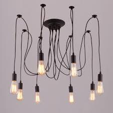 pendant light design 8 lights spider