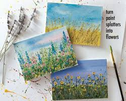 Small Picture Let Your Paint Splatters Bloom Into Flower Gardens A Step by