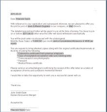 Email Accepting A Job Offer New 4848 Acceptance Of Offer Letter Reply Sangabcafe