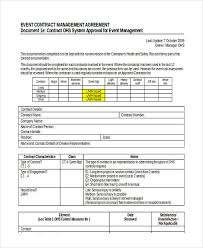 event agreement contract 58 management agreement examples and samples