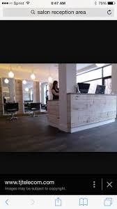 Reception Desks, Desk Ideas, Salon Design, Home Design, Hair Salons, Home  Salon, Lighting, Display Case, House