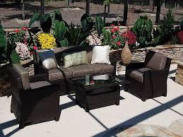 comfortable patio furniture. hampton bay patio furniture with dark wicker sofa and coffee table plus sweet flowers a comfortable