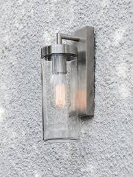 Warren 1 Light Exterior Wall Bracket In Brushed Chrome