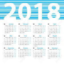 Week Number Calendar Calendar 2018 Year Vector Design Template With Week Numbers And