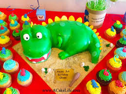Chases 1st Birthday 3 D Baby Dinosaur Cake A Cake Life