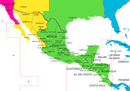 Time Map Mexico And Central America Time Zone Map With Cities