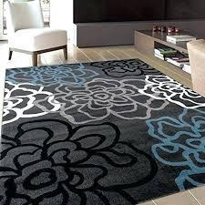 gray and white rug fl area rug contemporary modern flowers rugs 3 gray grey white blue gray and white rug