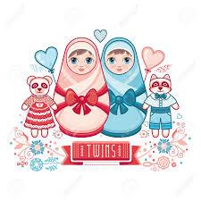 Newborn Congratulation Card Newborn Little Baby Matryoshka Greeting Card Best For Birthday