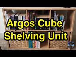 argos home cube shelves quick build and thoughts