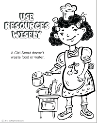 coloring daisy petal coloring page girl scouts use resources wisely print clover