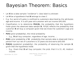 data mining bayesian classification docsity