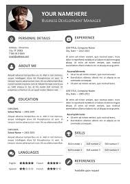 Free Template For Resume Magnificent Hongdae Modern Resume Template