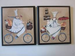 chef kitchen wall signs fat french delivery chefs bicycles home decor pictures