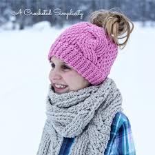 Ponytail Hat Crochet Pattern Beauteous Crochet Ponytail Hat