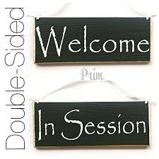 Do Not Disturb Meeting In Progress Sign 10x4 Welcome In Session Two Sided Choose Color Please Do Not