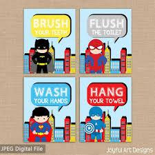 printable bathroom signs for kids. Fine Bathroom Superman Captain America X Prints Childrenus Printsset Printable Bathroom  Signs For Kids Superhero On Printable Bathroom Signs For Kids F
