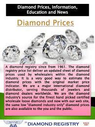 Diamond Price Chart Per Carat Price Of Diamonds