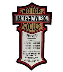 harley davidson patents original motorcycle patch harley