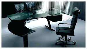 contemporary executive glass office desk furniture clear tempered modern gallery of top fu
