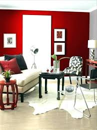 decoration decorating red walls dining room living wall painting ideas fur carpet