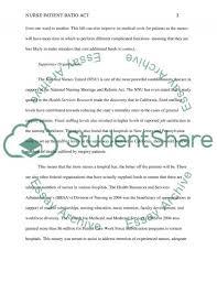 nurse patient ratio act essay example topics and well written nurse patient ratio act essay example