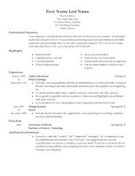 Job Resume Formats – Resume Letter Collection