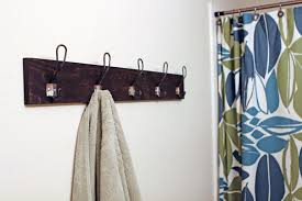 DIY Metal Hook Towel Rack