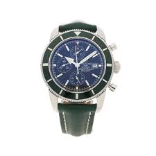 breitling super ocean heritage a13320 green second hand watch 2012 breitling super ocean heritage a13320 green mens second hand watch 2012