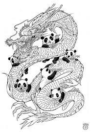 Year Of The Panda Outline Doodle Invasion Kleurplaten
