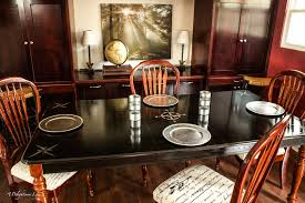 from farmhouse country to elegant black this dining table transformation is beautiful fusionmineralpaint com