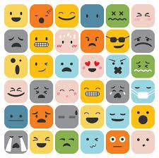 Feelings Chart Emoji Emoji Emoticons Set Face Expression Feelings Collection