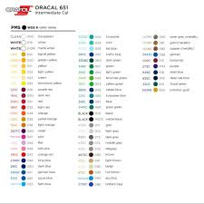 Oracal Vinyl Color Chart Pdf