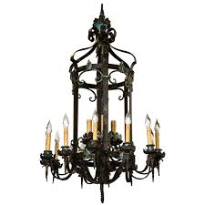 full size of living mesmerizing vintage wrought iron chandelier 10 shades with crystals ceiling fan retractable