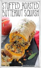 stuffed roasted ernut squash it