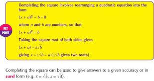 quadratic equations mathematics gcse