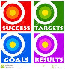goals targets indicates aspirations objectives and forecast stock goals and targets royalty stock image