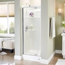 semi frameless shower doors. Semi-Frameless Pivot Shower Door In Semi Frameless Doors