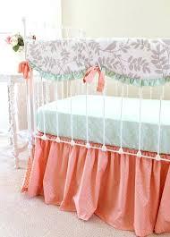 peach nursery bedding crib bedding set in peach mint gray 3 piece by light peach baby peach nursery bedding